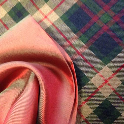 wool tartan and lining