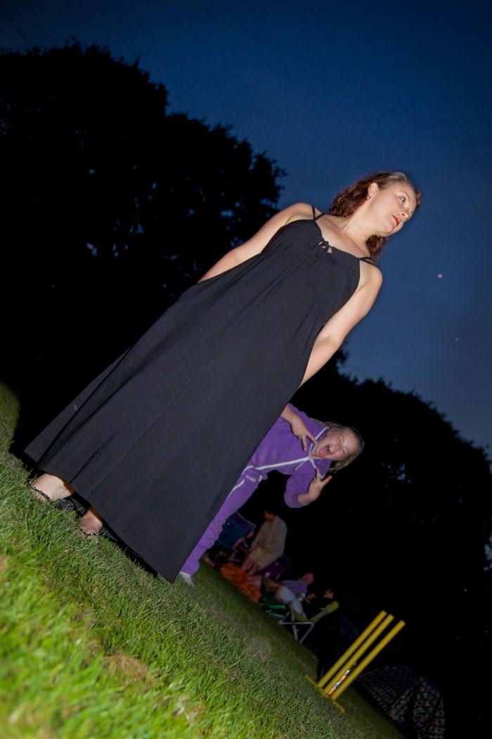 Burda Maxi Dress photobombed
