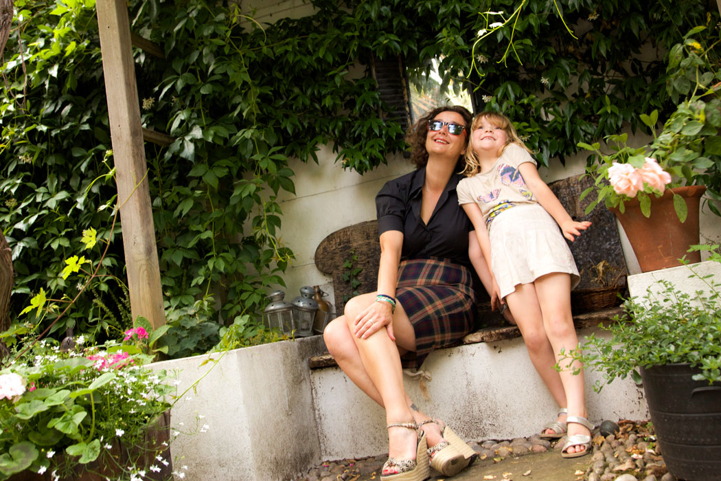 Katy modelling with her daughter