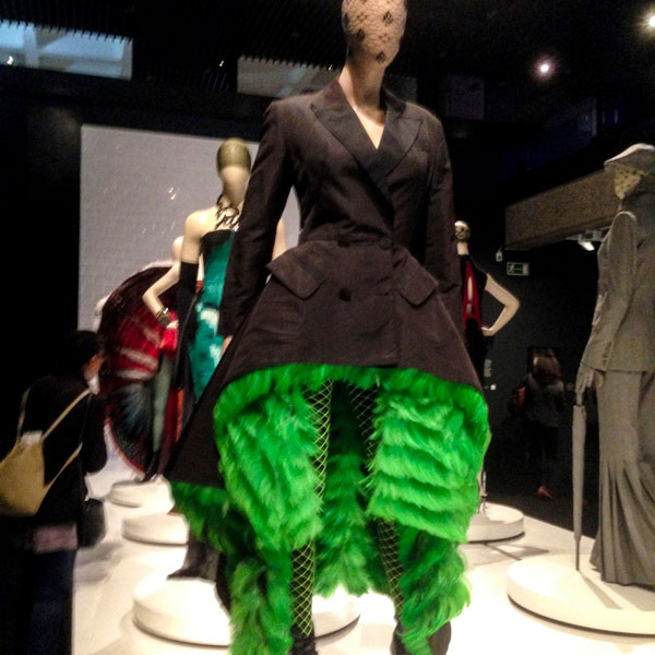 Gaultier feathered coat
