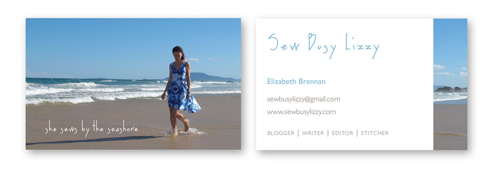 Sew Busy Lizzy business cards