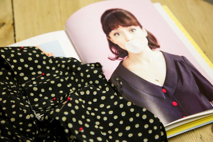Mimi blouse in progress