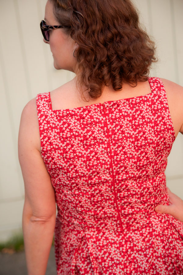 Flora dress back view
