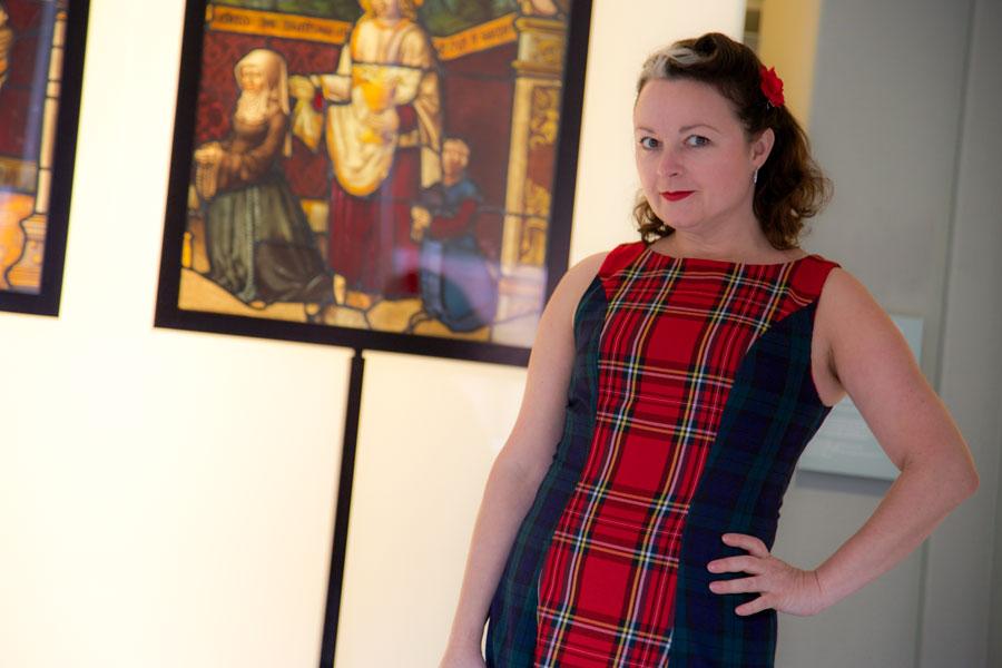 sabrina dress stained glass