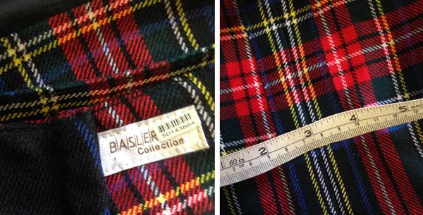 Basler label generous seam allowance