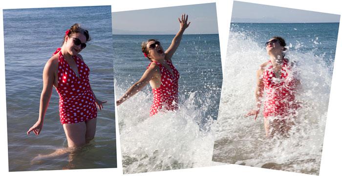 bombshell swimsuit splash