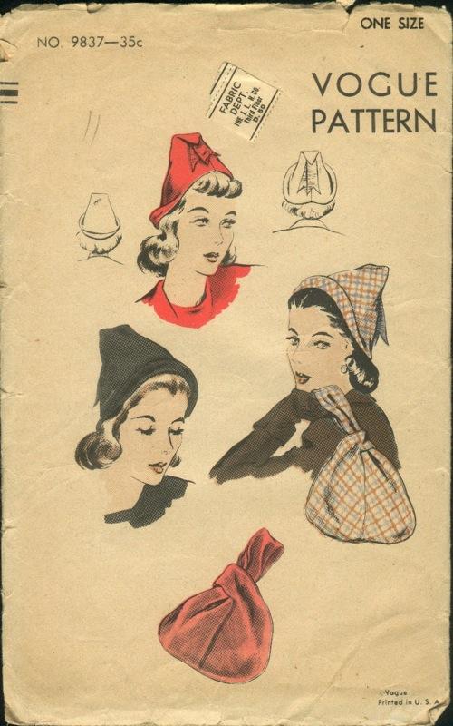 vogue bag hat pattern v9837
