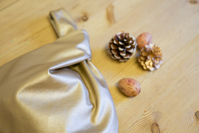 gold pouch bag