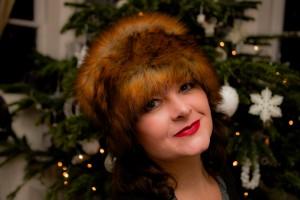 handmade vintage style fur hat