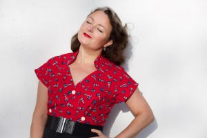 vintage lighthouse blouse