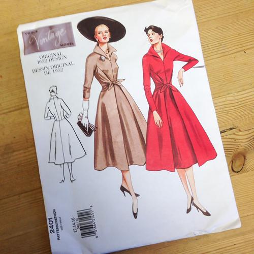 Vogue V2410 vintage dress pattern