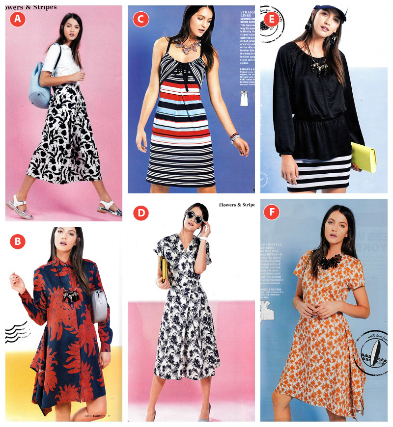 Flowers and stripes burda style march 2015
