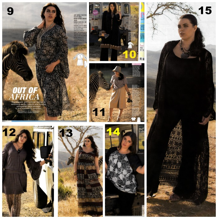 Burda style june 2015 plus section