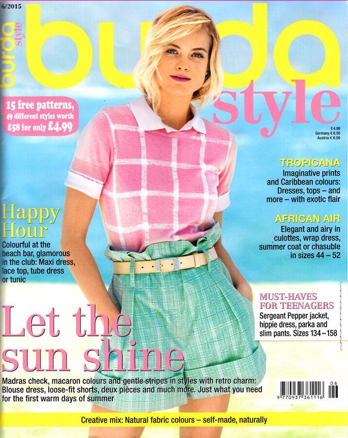 burdastyle june 2015 cover