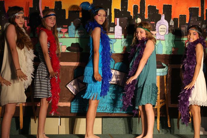 Bugsy Malone show girls
