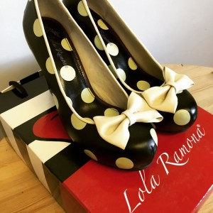 lola ramona spotty bow shoes