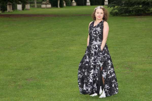 Burda 0315 maxi dress on the lawn
