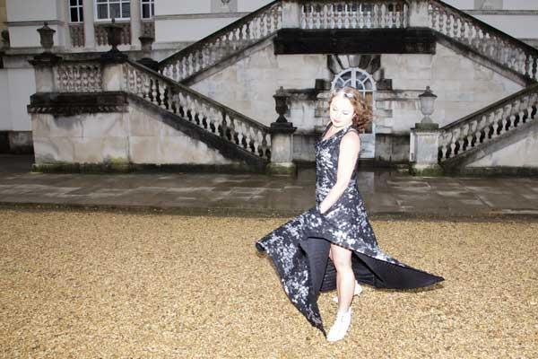 burda maxi dress shot overexposed