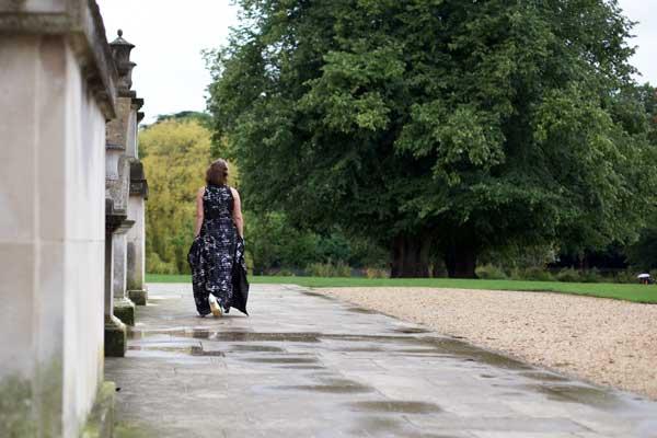 walking away in the maxi dress