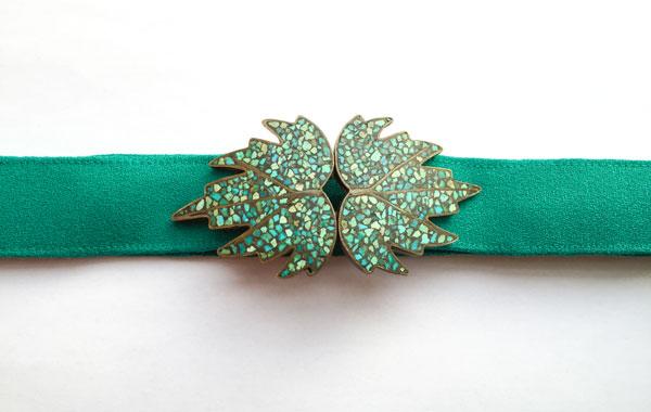 leaf buckle belt