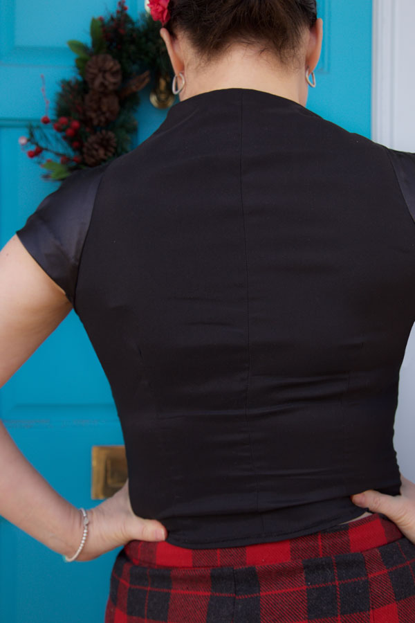 cap sleeve top back view