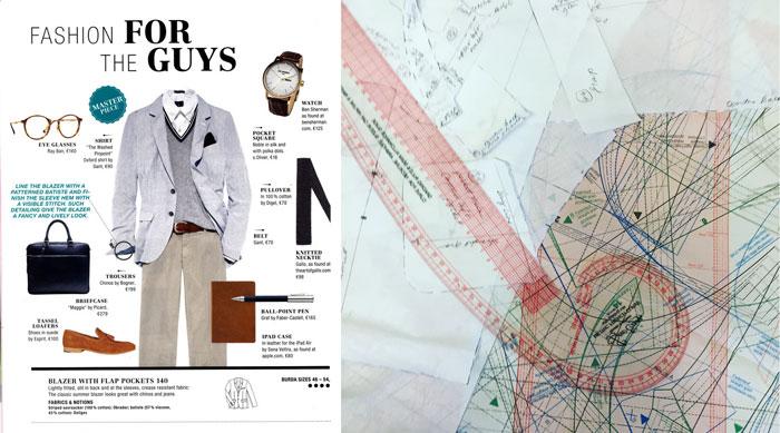 Burda blazer pattern trace