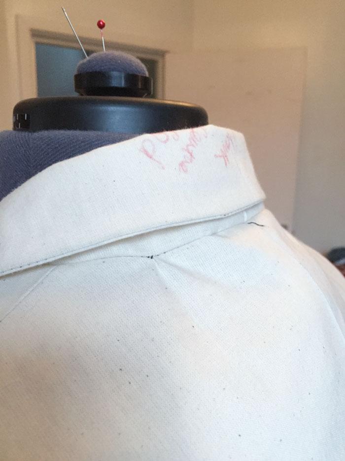 back collar folded down