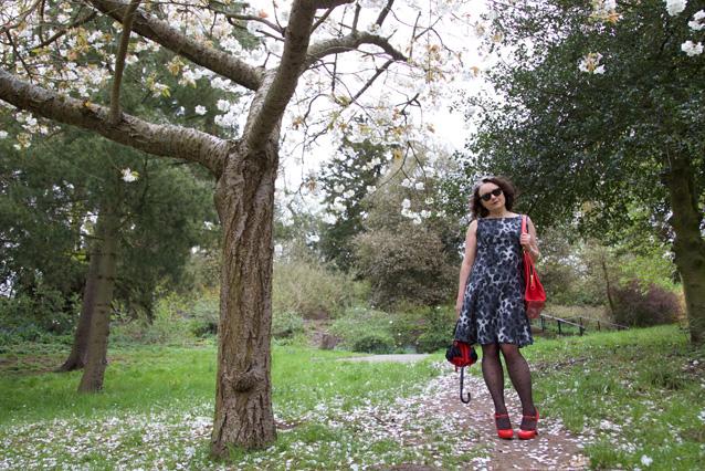sabrina dress under the blossom tree