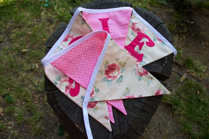 personalised bunting Maddie