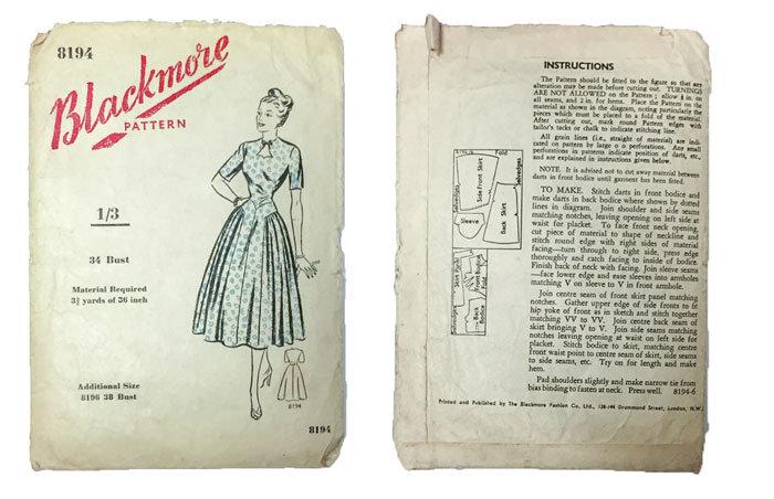 Blackmore 8194 sewing pattern
