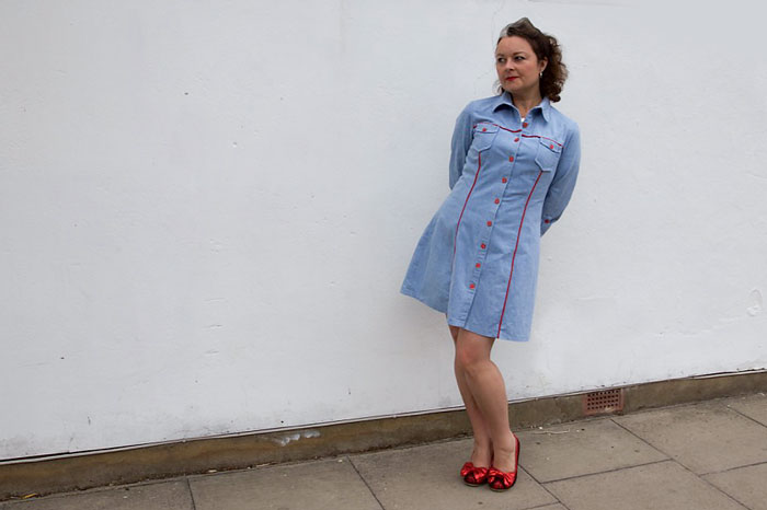 Tilly and the buttons rosa dress