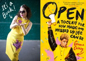 Martini dress for Open, the book launch