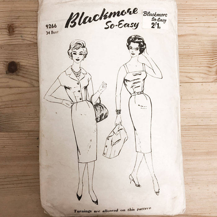 vintage blackmore 9266 sewing pattern