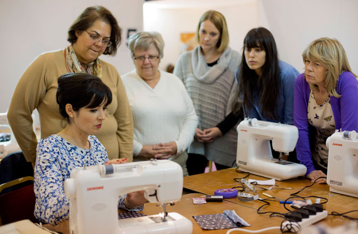 Janome sewing machine workshop gbsb live