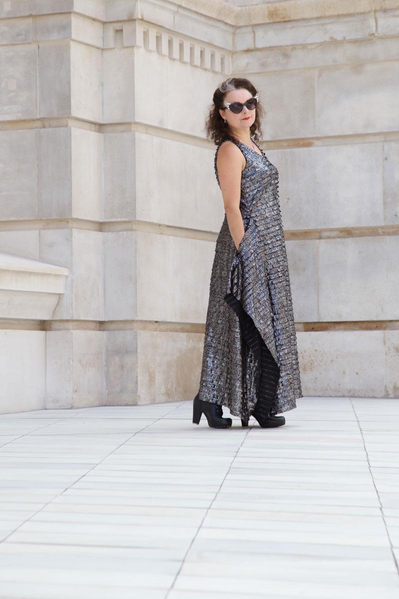 Shiny Burda Maxi dress