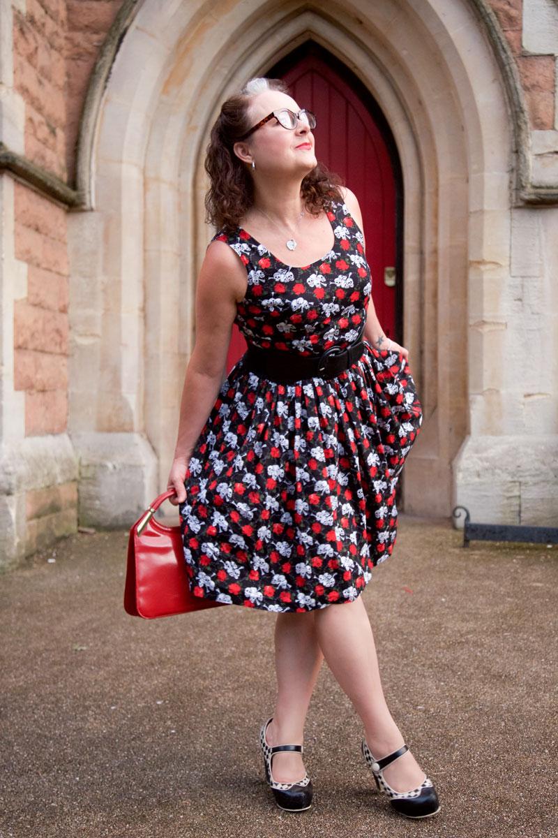 Ooobop Skulls and Roses Dress