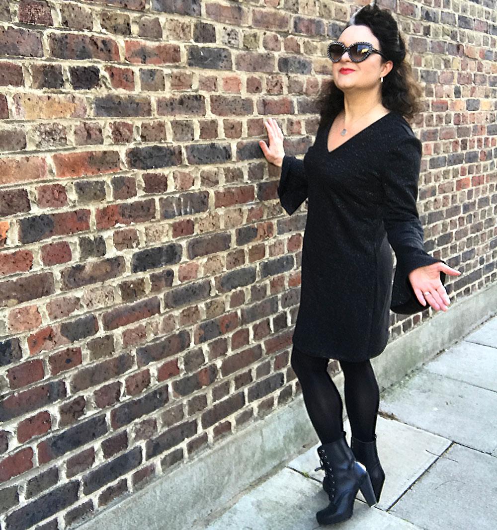 burda bell sleeve dress full length