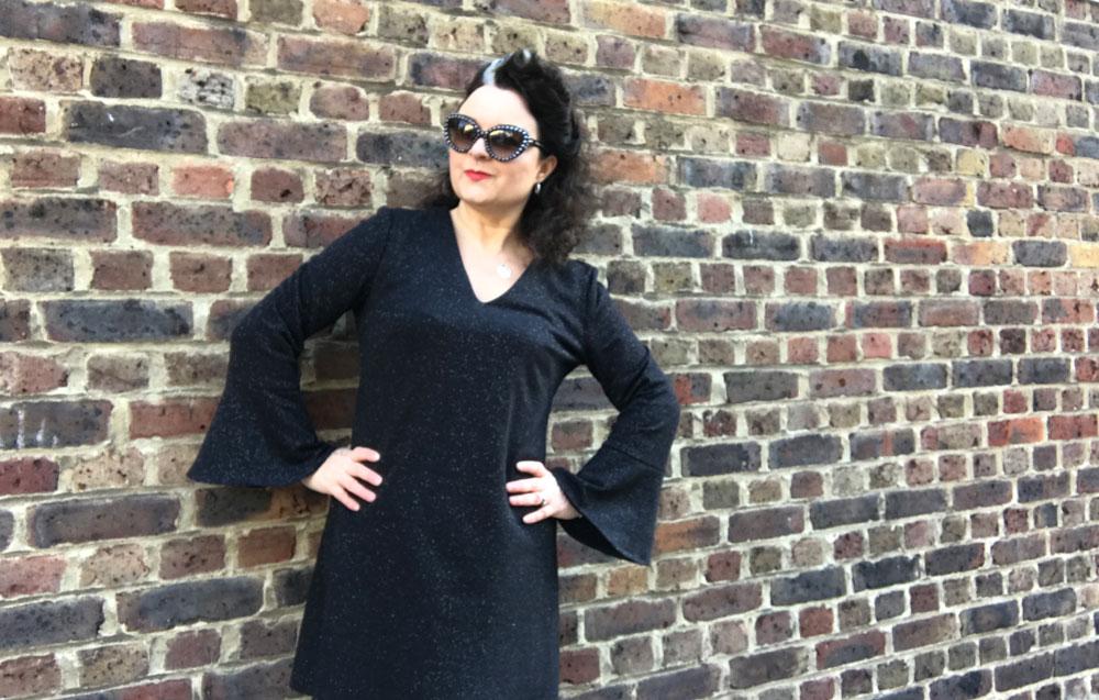 burdastyle bell sleeve dress by ooobop