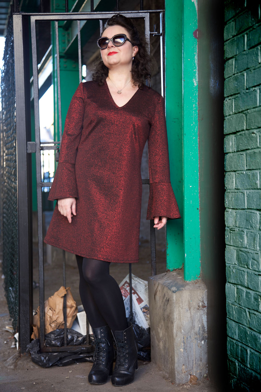 Bell sleeve dress burdastyle pattern