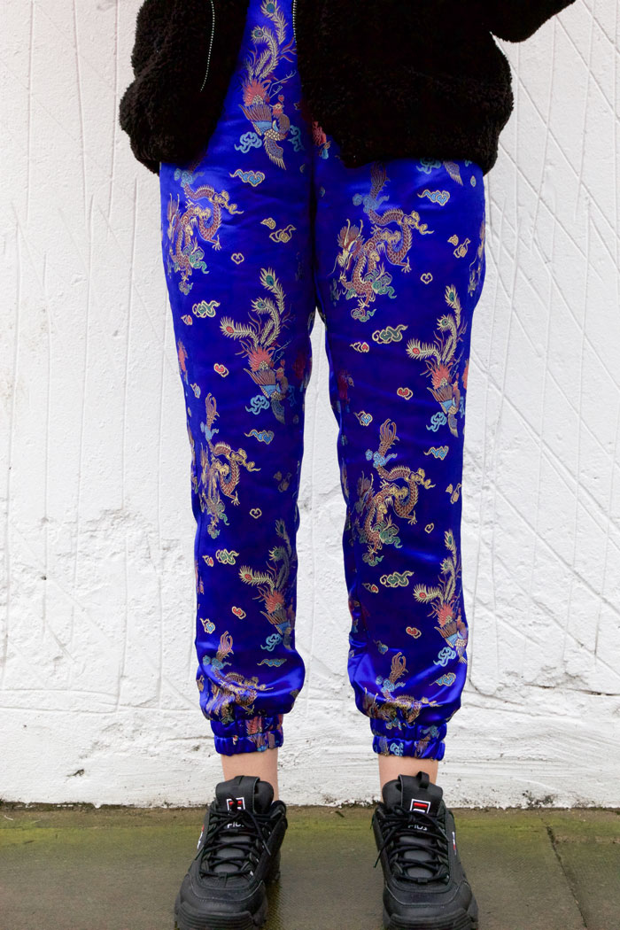 Satin joggers by ooobop
