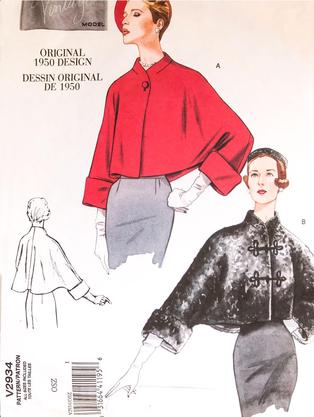 Vogue 2934 sewing pattern