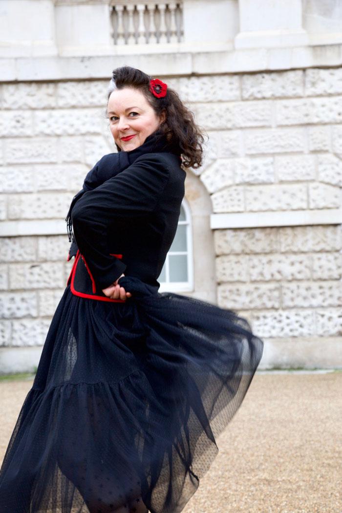 ooobop tulle flamenco pose