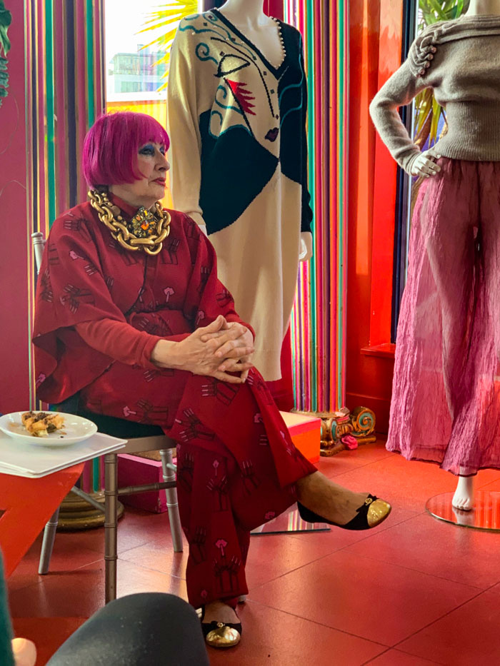 zandra Rhodes talking