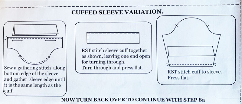 cuffed sleeve instructions