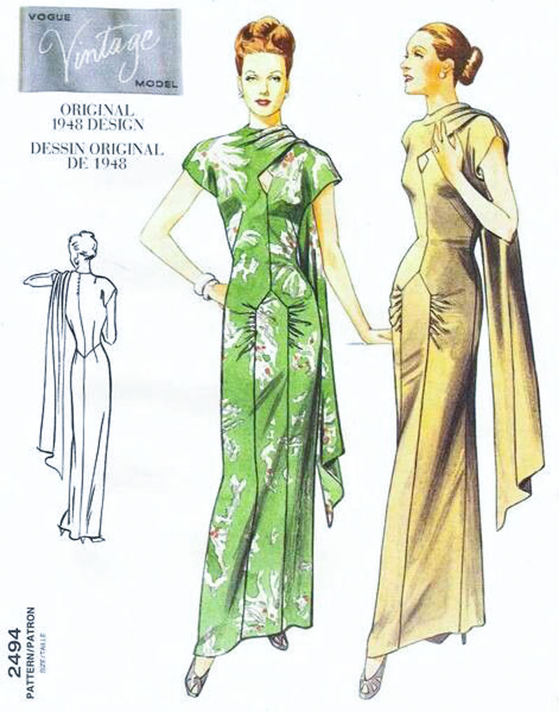 Vintage Vogue V2494 sewing pattern