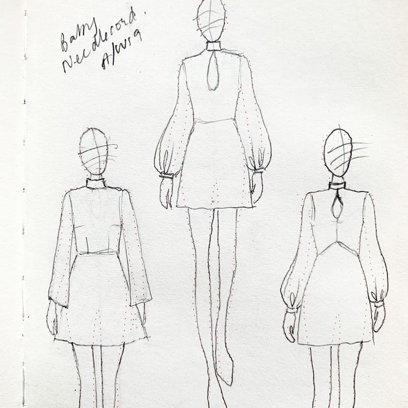 sketches of the dress