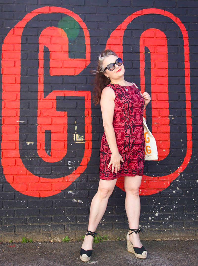 ooobop self-drafted batik shift dress