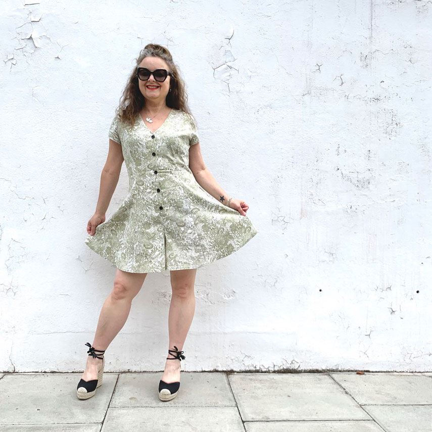 Shelby Romper Suit by ooobop against a white wall