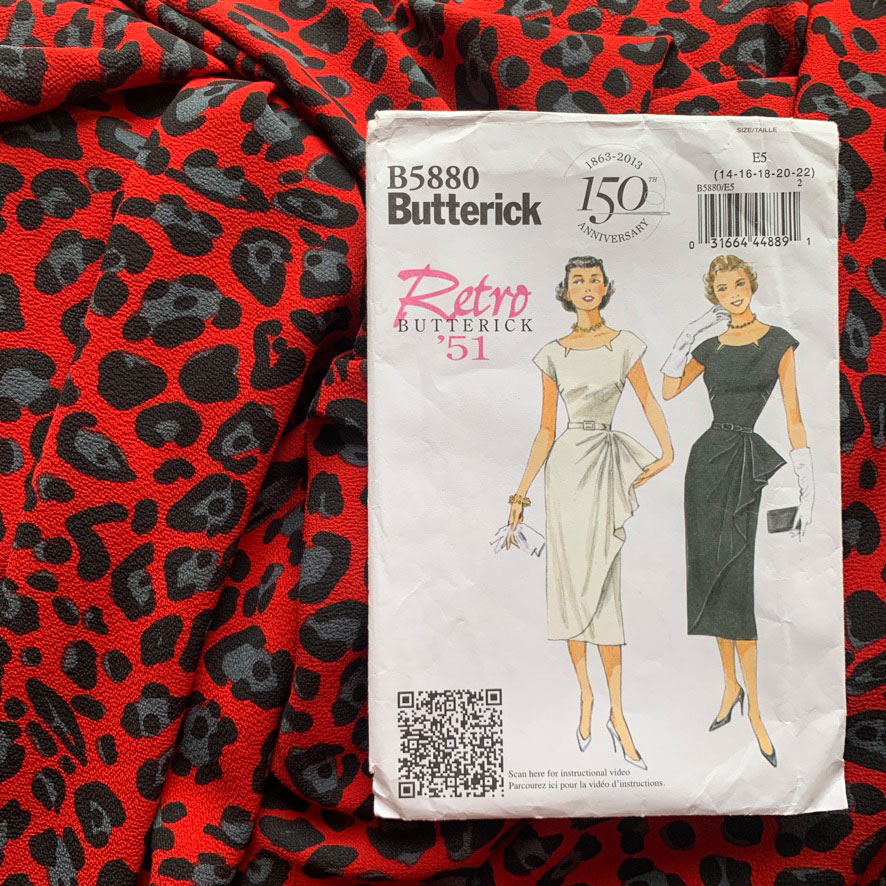 Retro Butterick 5880 pattern envelope